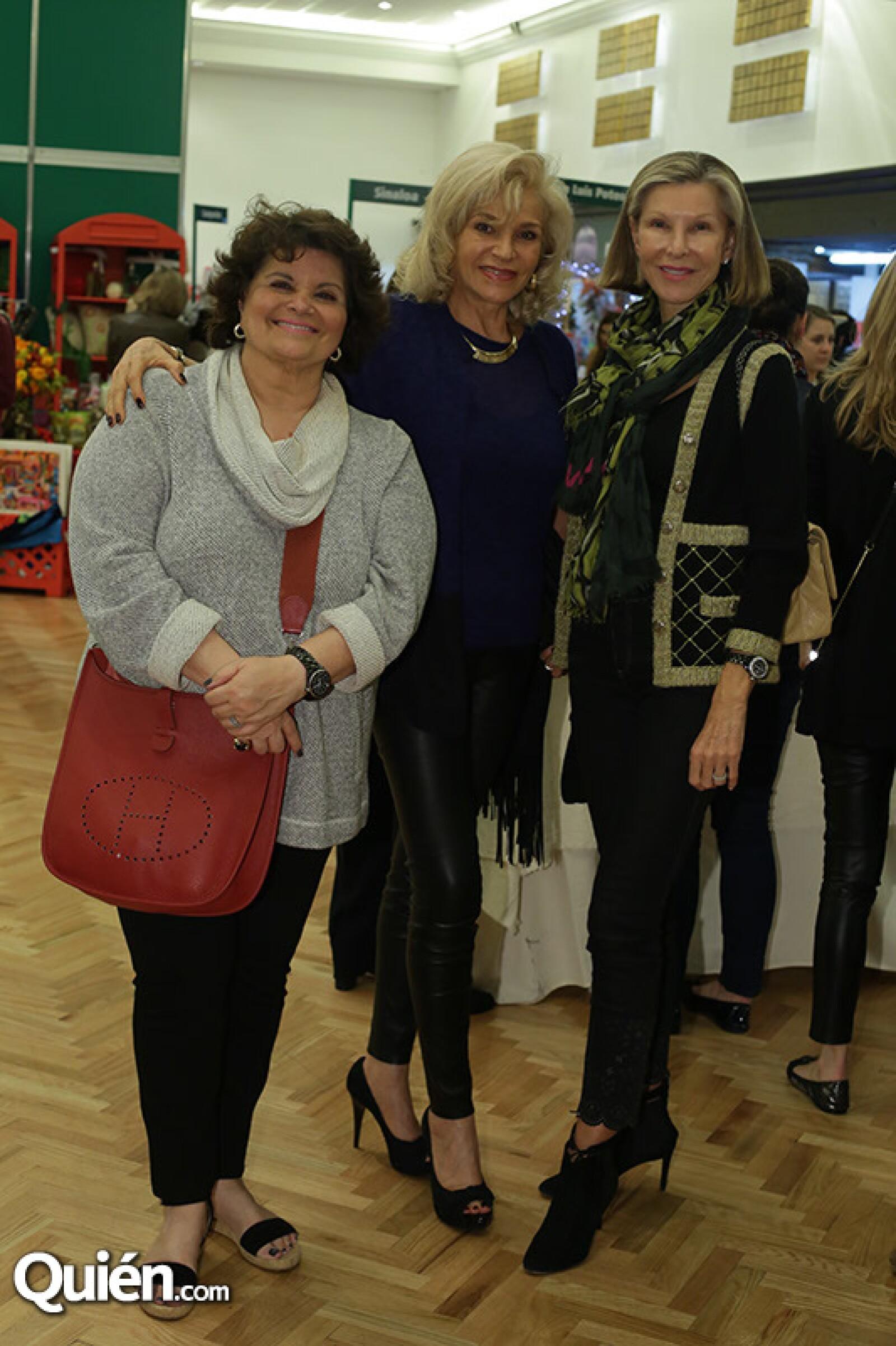 Linda Canan,María Pupko y Evelyn Schmidt
