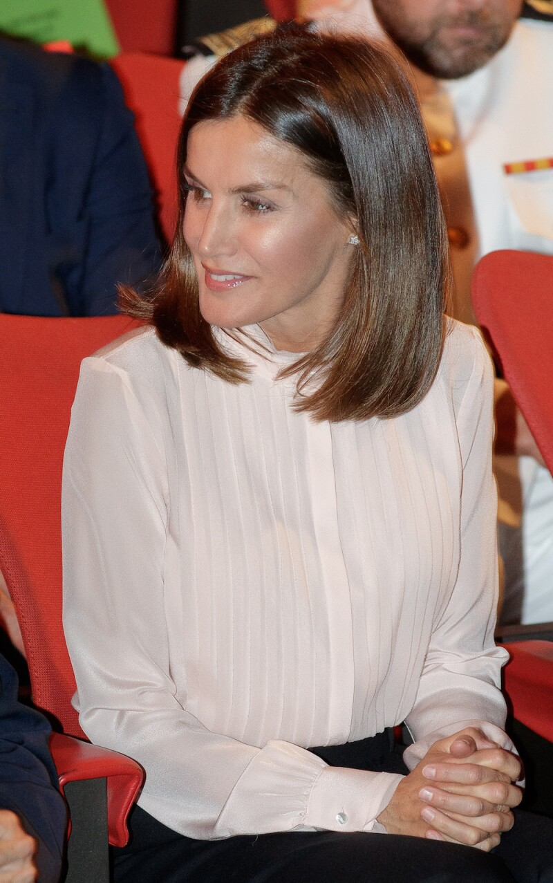 Queen Letizia Of Spain Attends 'V De Vida' AECC Awards 2018