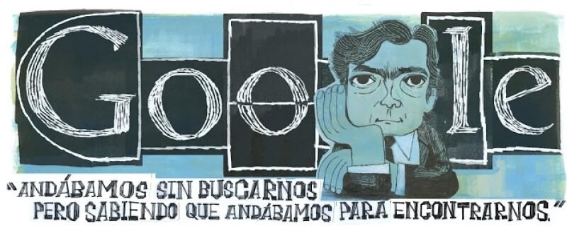 Julio Cortázar doodle Google