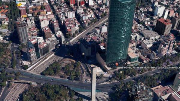 Foto en 3D de la Torre Mayor de la Ciudad de M�xico