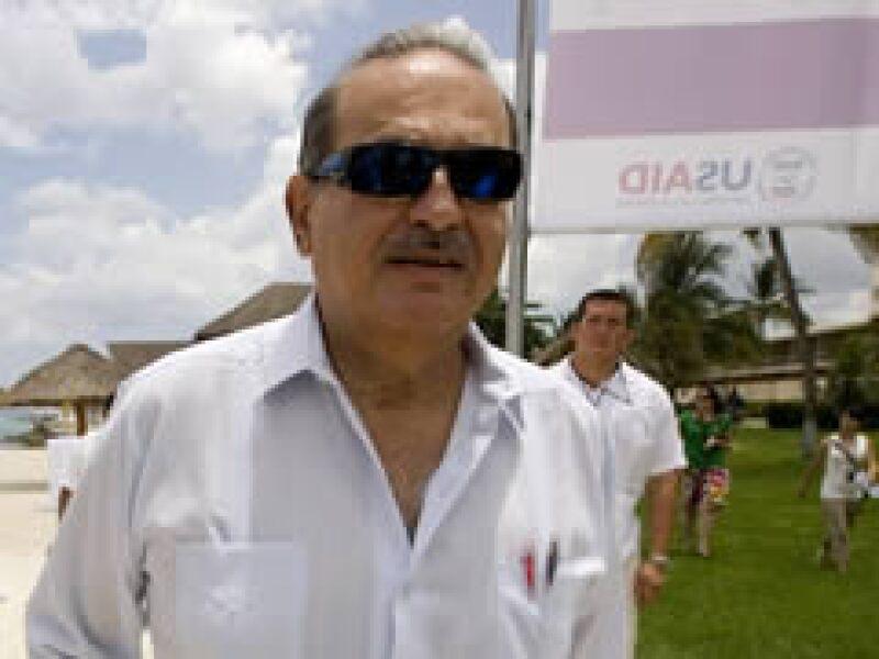 Slim participó en Cozumel en el panel Revitalizando la economía a través de la acción climática. (Foto: Reuters)