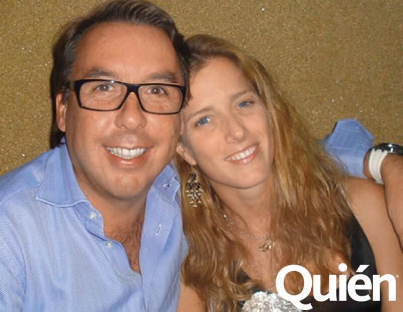 Emilio Azcárraga y Sharon Fastlicht