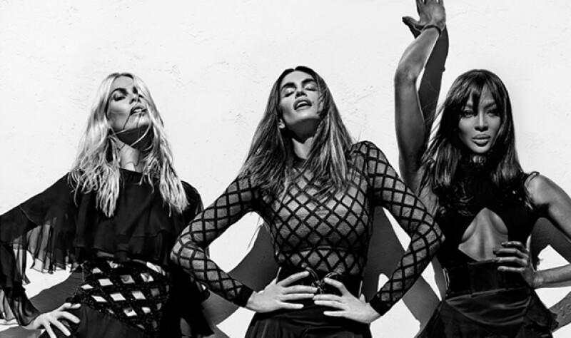 Balmain inicia el año con el pie derecho gracias a su nueva campaña de la colección SS16 protagonizada por Naomi, Cindy y Claudia, las supermodelos originales.