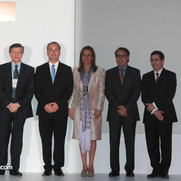 Isaac Chertorivski, Jaime Graña, Margarita Zavala, Emilio Azcárraga y Francisco Acosta