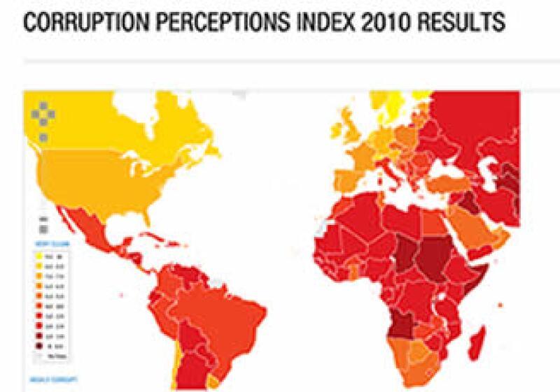 Somalia apareció como el país más corrupto, mientras Dinamarca Nueva Zelanda y Singapur ocuparon la cima. (Foto: Especial)
