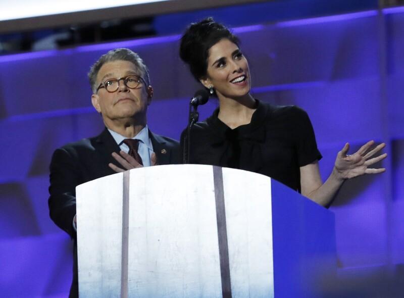 Al Franken, senador, y Sarah Silverman