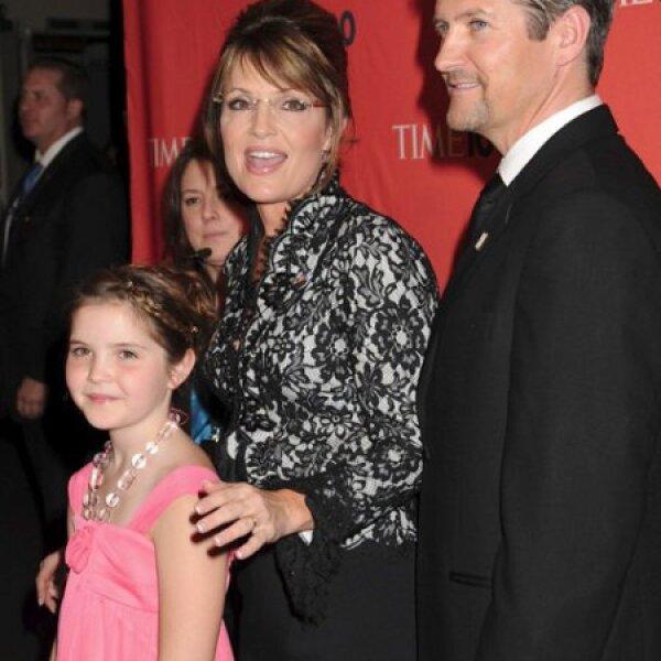 Sarah Palin, Todd Palin y Piper Palin.