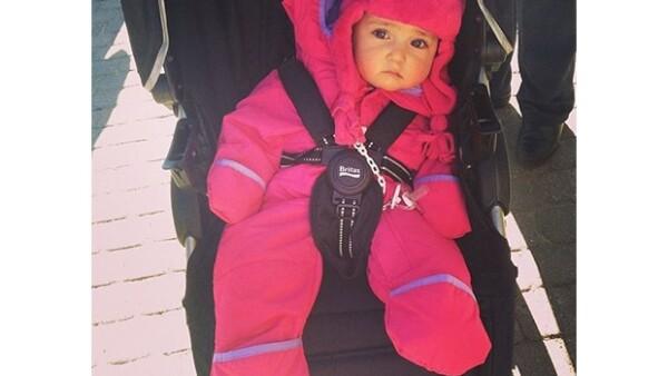 La conductora, su esposo Martín fuentes y su pequeña hija se encuentran de vacaciones invernales en Telluride, Colorado.