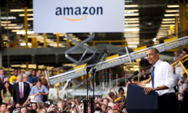 La acción de Amazon ha subido más de 40% este año, un precio casi 10 veces mayor que la cotización que debería tener, dice el estudio. (Foto: Getty Images)