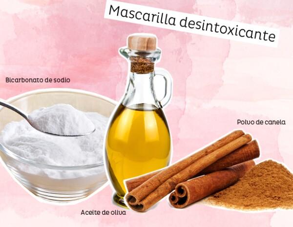 El bicarbonato de sodio, el aceite de oliva y la canela, ayudarán a desintoxicar tu pelo.
