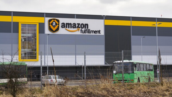 Online retailer company Amazon fulfillment logistics building