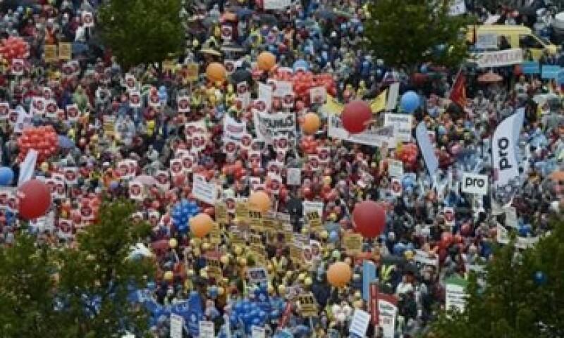Unas 30,000 personas protestaron en Helsinki en septiembre. (Foto: Reuters )