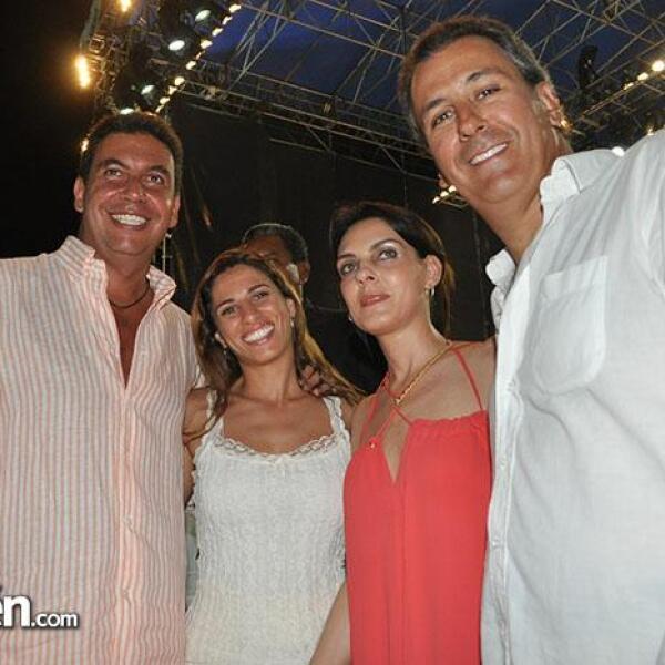 Arturo Elías Ayub, Johanna Slim, María Elisa y Pepe Chedaui