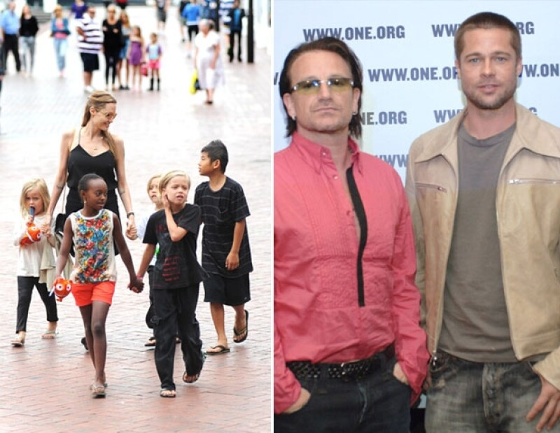 Brad y Angelina vieron en Bono, un excelente padrino.