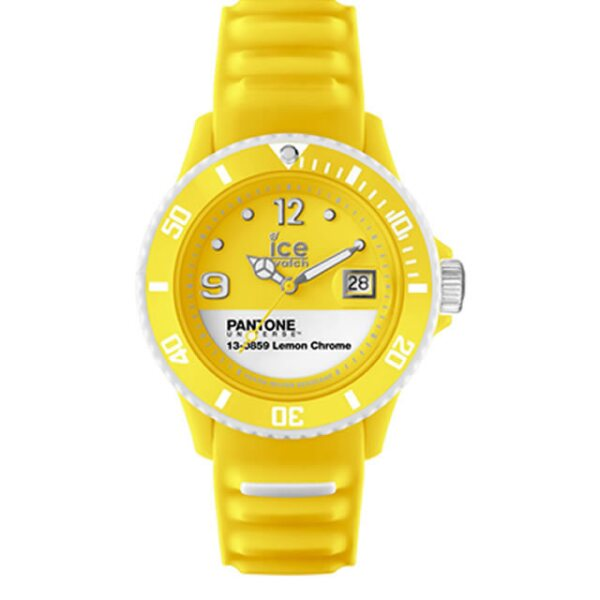 Pantone Lemon Chrome by Ice-Watch. $1,785 pesos, precio aproximado. pantone.com