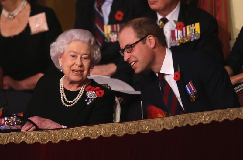Reina Isabel II y príncipe William