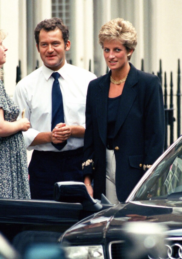 File Photo Showing Diana, The Princess Of Wales, In London With Her Butler, Paul Burrell, In 1994