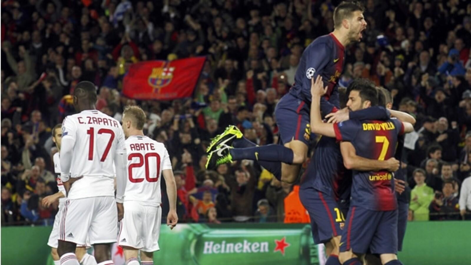 barcelona vs milan primer gol