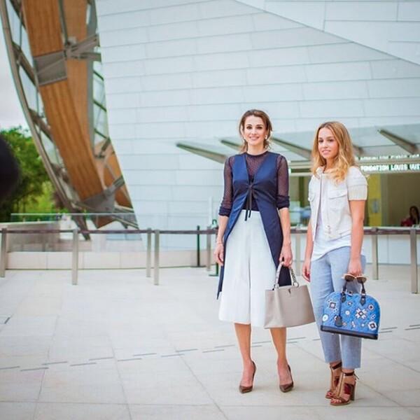 Después de la conferencia, Rania e Imán fueron a la Funadción de Louis Vuitton.