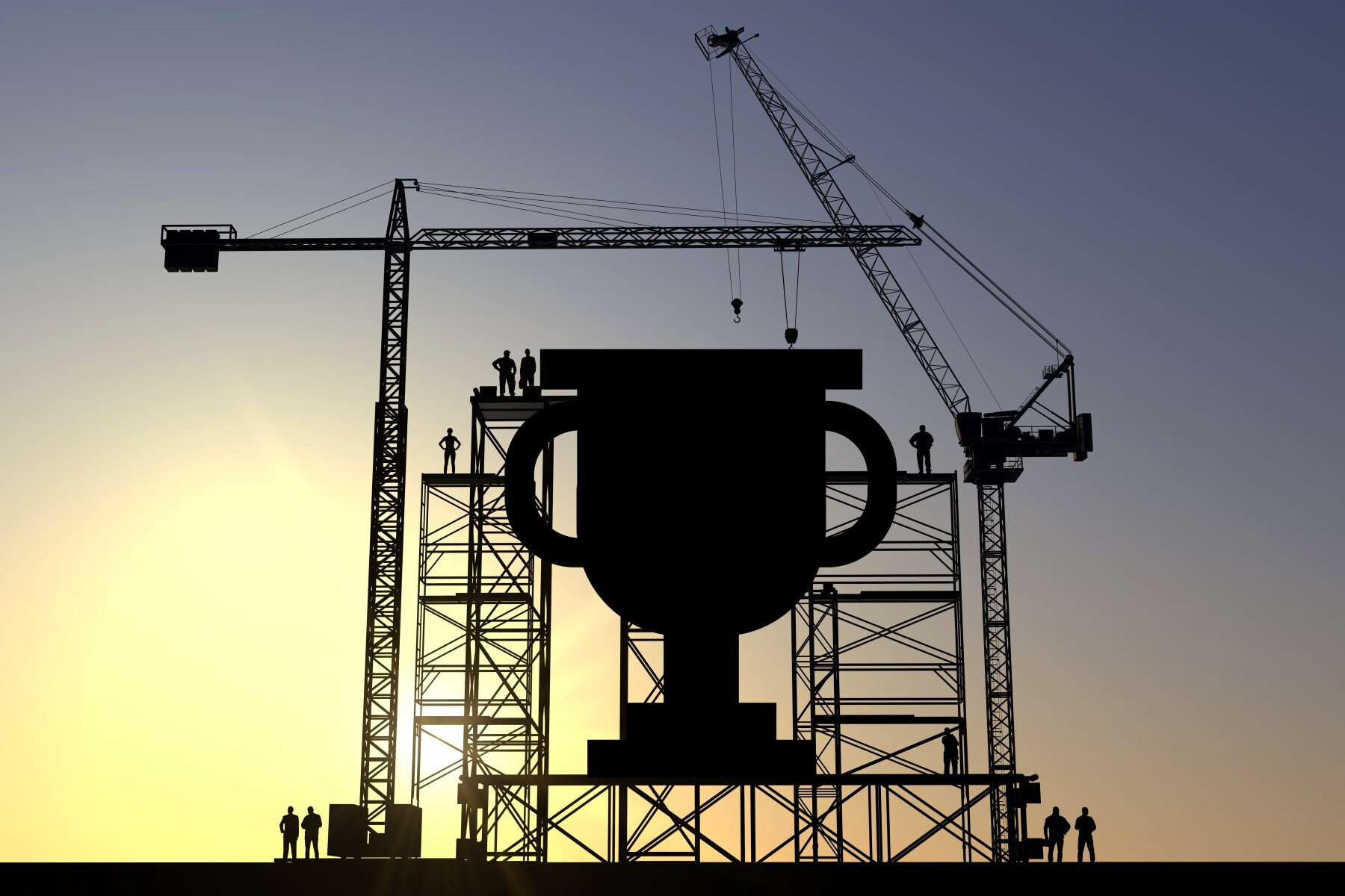 Trophy construction site