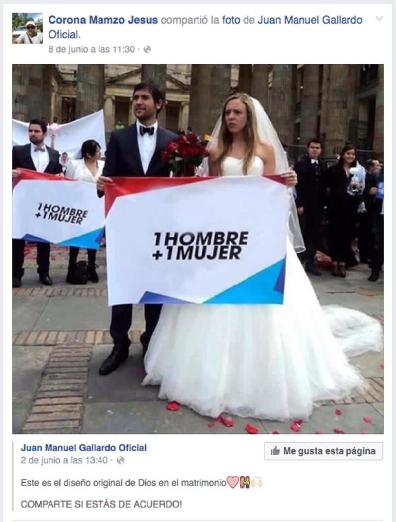 Días antes de la masacre en Orlando, José de Jesús Manzo Corona, había expresado su sentir con respecto al matrimonio.