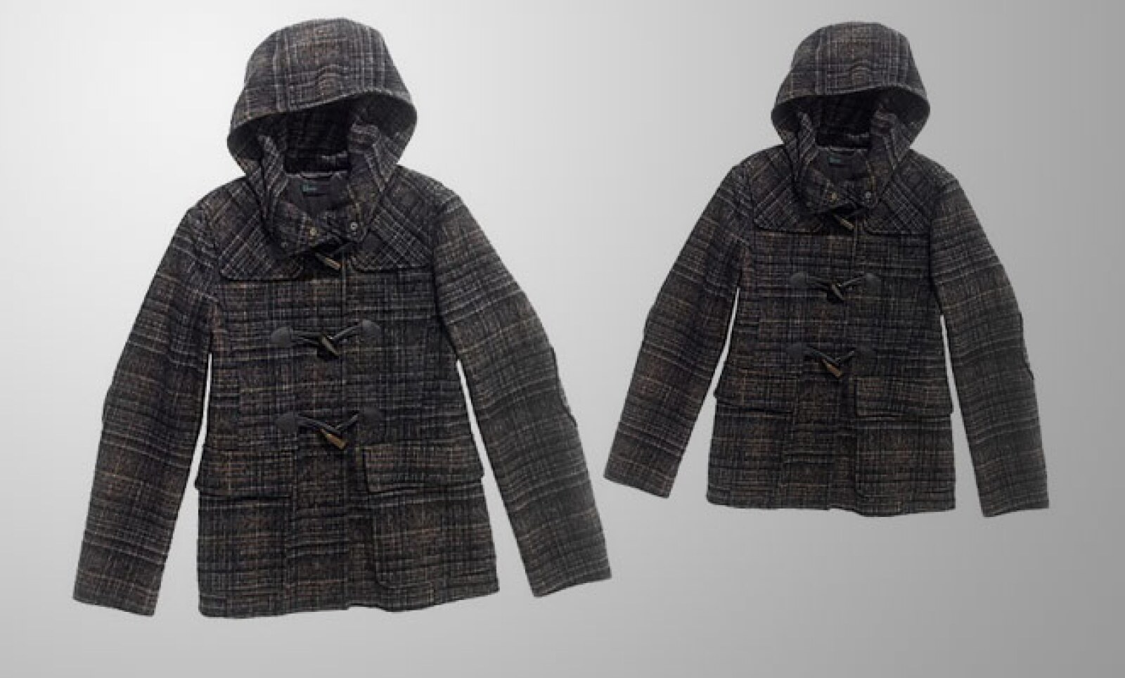 Fabricado en lana, este abrigo te puede resguardar contra la lluvia vespertina.