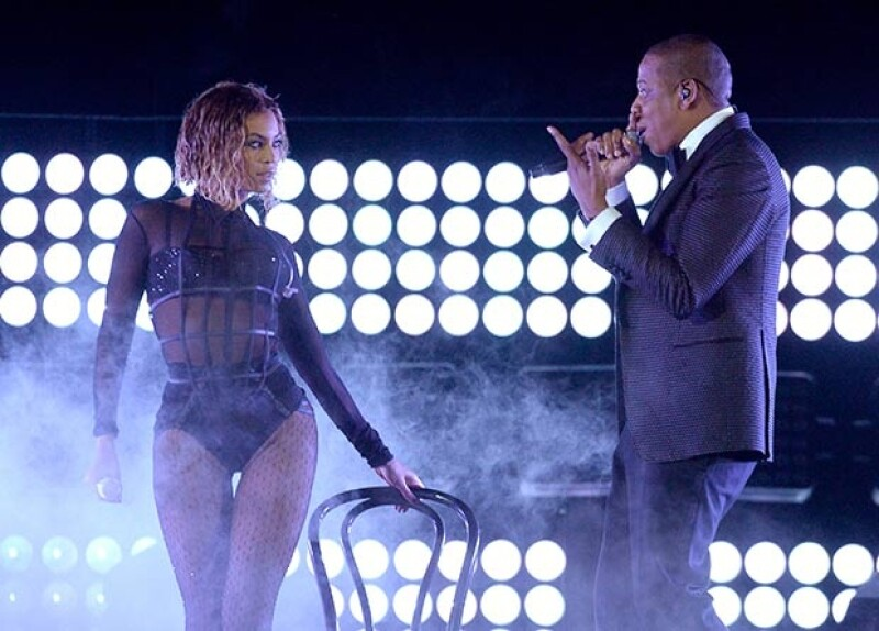 Beyoncé y Jay Z mostraron gran química sobre el escenario.