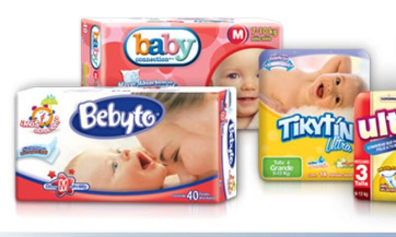 En el segmento de pañales para bebé, la empresa tiene una participación de alrededor de 24% en México, incluyendo sus marcas propias y privadas.  (Foto: Cortesía de Mabesa)
