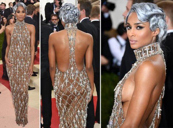 Ciara también dejó ver un poco de sideboob con su vestido.