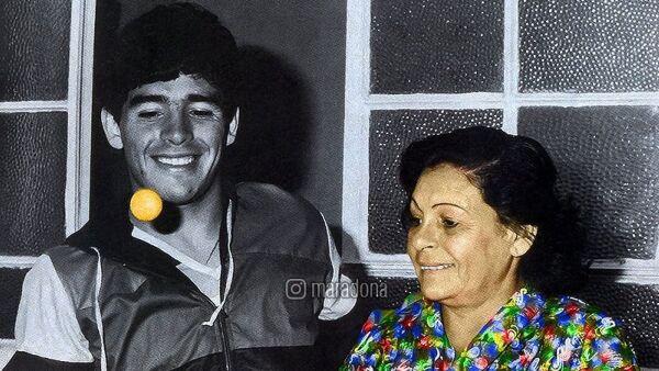 Doña Tota y Diego Armando Maradona