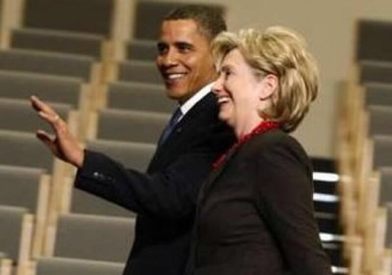 Barack Obama y Hillary Clinton son los políticos más admirados de EU. (Foto: Reuters)