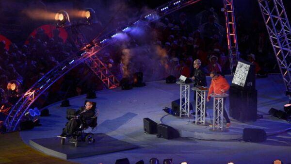 Stephen Hawking Londres 2012