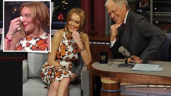 Al parecer la actriz está más que lista para pasar 90 días en una clínica. Según le comentó a David Letterman, quiere volver a estar sana y centrarse en su trabajo.