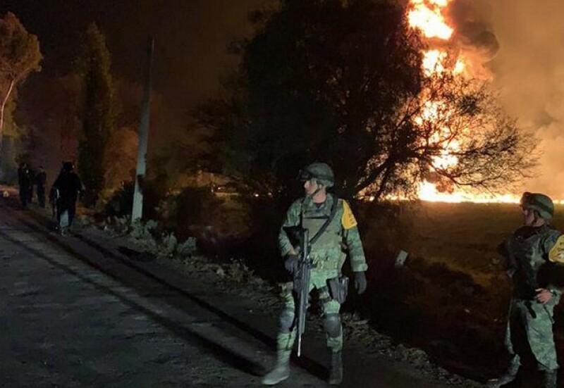 Incendio del ducto de Pemex en Tlahuelilpan, Hgo.