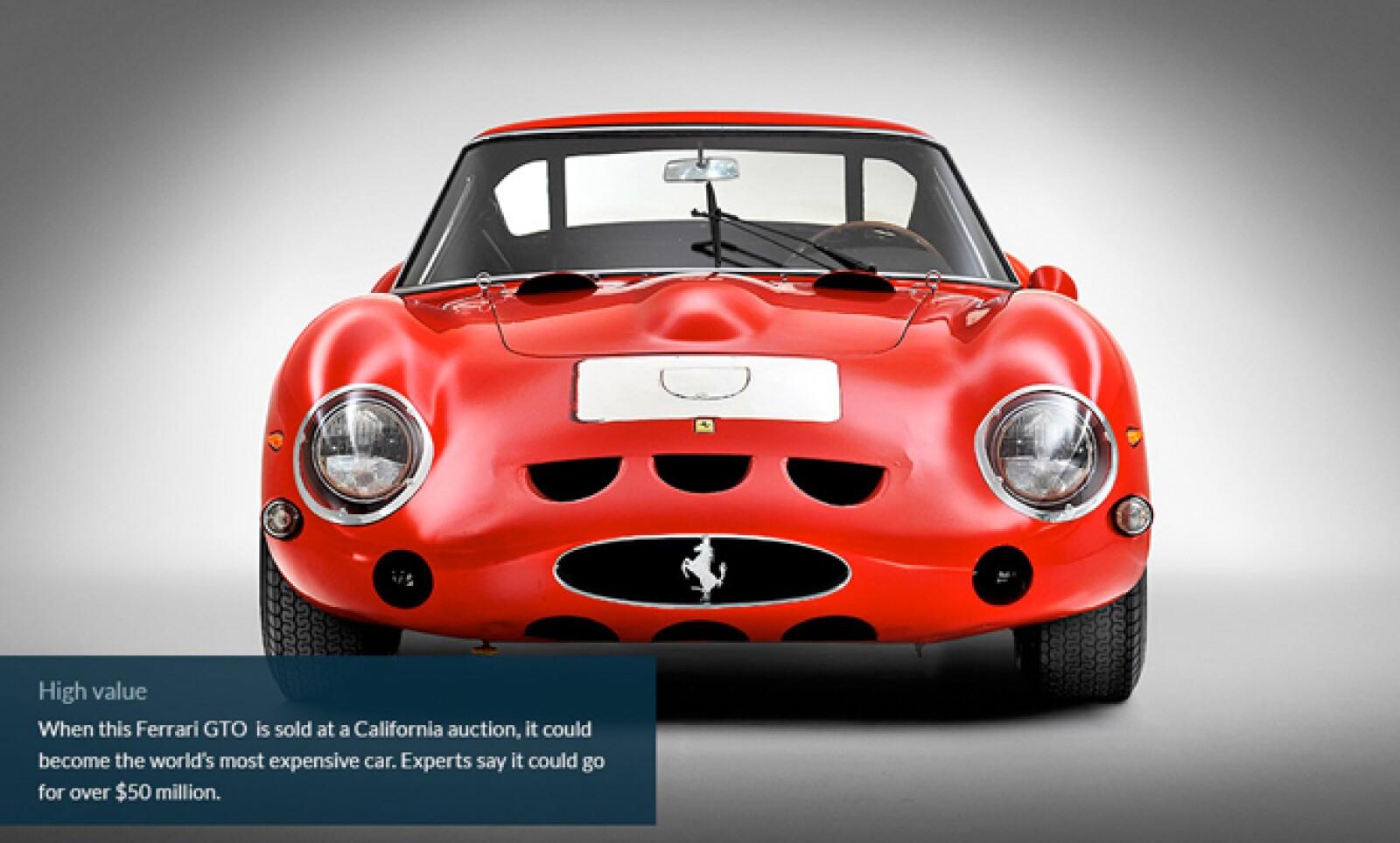 Cuando este Ferrari sea vendido en una subasta en California se podría volver el auto más caro del mundo. Expertos dicen que puede valer más de 50,000 millones de dólares.