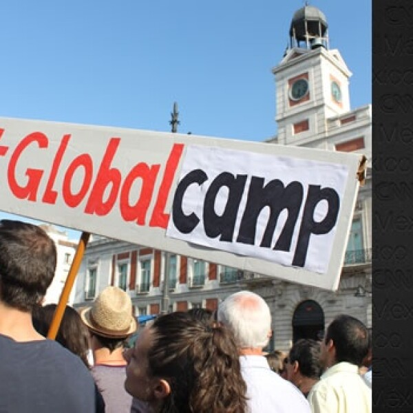 España - indignados - global camp
