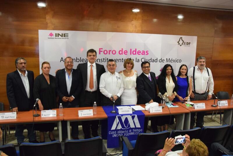 En el foro estuvieron presenten únicamente los candidatos independientes que buscan formar parte de la Asamblea Constituyente de la Ciudad de México