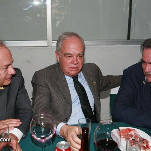 Alberto Valencia, Francisco Unzueta y Jorge Castro