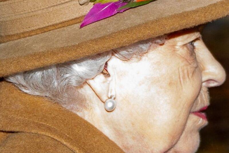 Queen Elizabeth attends church service, Sandringham, Norfolk, UK - 12 Jan 2020