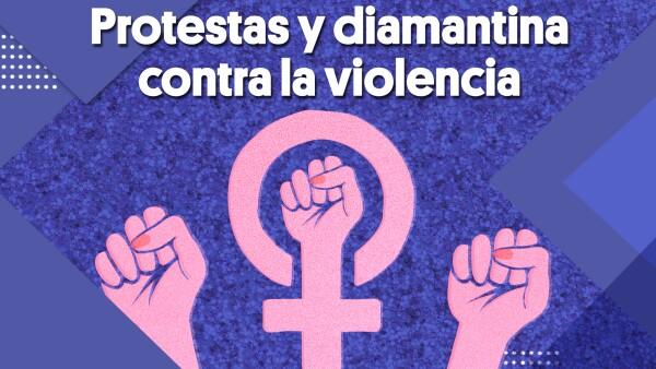 Protestas y diamantina contra la violencia | #Clip