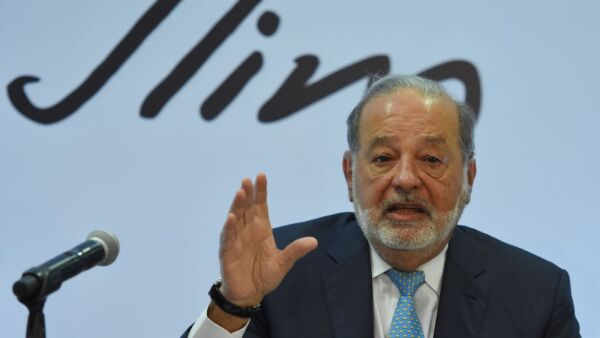 America Movil SAB Chairman Emeritus Carlos Slim Holds Press Conference