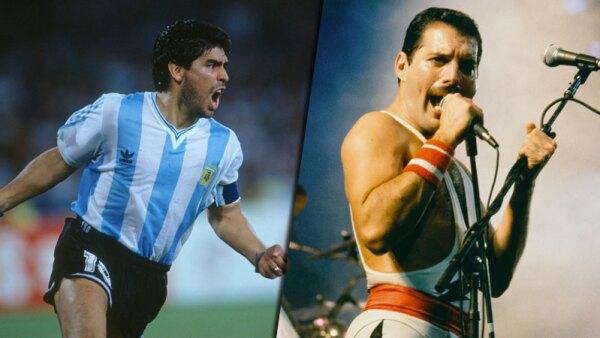 Diego Armando Maradona y Freddie Mercury