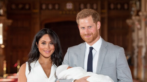 Meghan Markle, Archie Harrison y el príncipe Harry