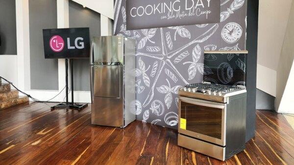 La nueva LG Gas Oven durante el LG Cooking Day