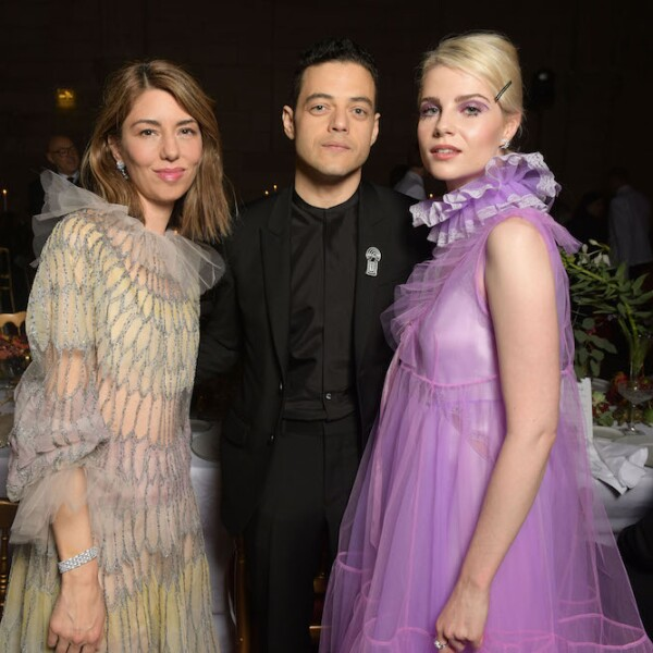 Sofia Coppola, Rami Malek & Lucy Boynton disfrutando de la gran noche