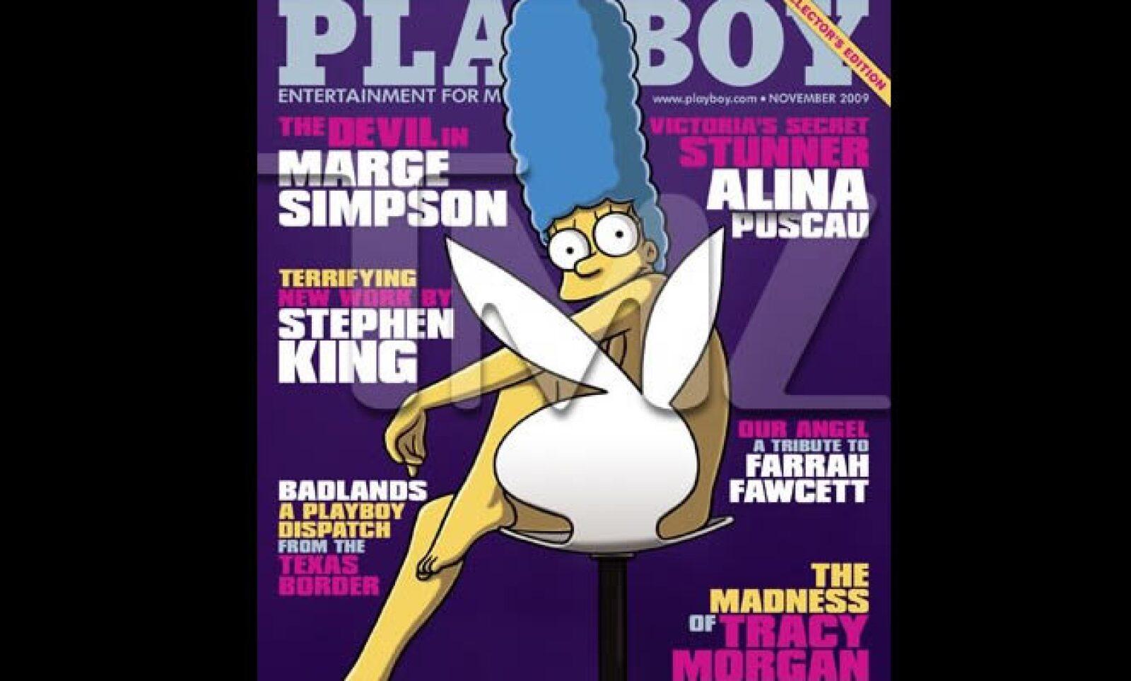 La portada de la edición de Noviembre de la revista Playboy será Marge Simpson. El portal de noticias del mundo del espectáculo TMZ adelanta que Marge además posa en ropa interior en un desplegado de 3 páginas al interior de la revista.