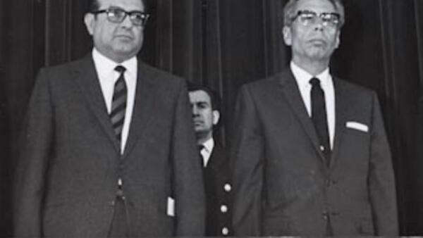 Pedro Ram�rez V�zquez y Gustavo D�az Ordaz