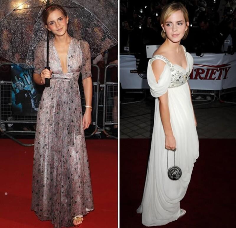Al paso de los años Emma ha ido madurando su estilo.