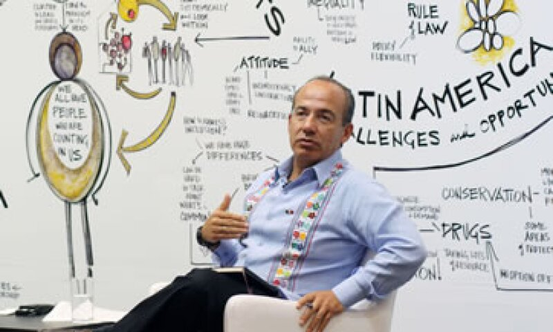 Felipe Calderón señaló que la medida le va a hacer mucho daño a Argentina. (Foto: Notimex)
