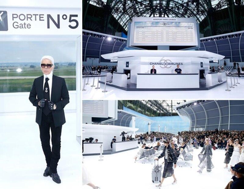 La sala número 5 fue la principal, haciendo referencia a la fragancia de Chanel.
